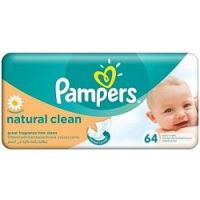 Pampers obrúsky Naturally Clean 64 ks