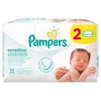 Pampers obrúsky Sensitive 2x56 ks