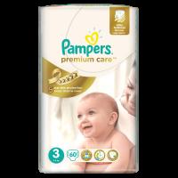 Pampers Premium Care 3 Midi, 60 ks (5-9 kg) - jednorazové plienky