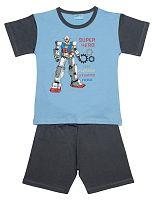 Pettino Chlapčenské pyžamo s robotom - svetlo modré, 104 cm