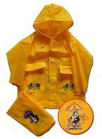 PIDILIDI Detská pláštenka Krtko - žltá, 4 roky