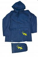 PIDILIDI Detská pláštenka Salamander + vrecúško - modrá, 10 let