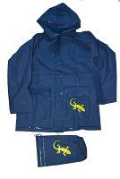 PIDILIDI Detská pláštenka Salamander + vrecúško - modrá, 8 let