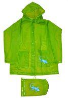 PIDILIDI Detská pláštenka Salamander + vrecúško - zelená, 6 let