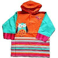 PIDILIDI Dievčenské pláštenka so sovou - farebná, 116 cm