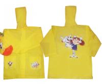 PIDILIDI Pršiplášť Káťa a Škubánek - žltý, 116 cm