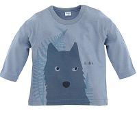 Pinokio Chlapčenské tričko s vlkom - sivé, 74 cm