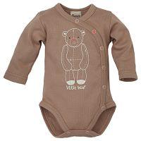Pinokio Detské zavinovacie body s medvedíkom - hnedé, 80 cm