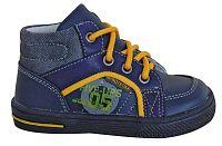 Protetika Chlapčenské kožené členkové topánky Edgar - tmavo modré, EUR 21