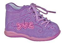 Protetika Dievčenské kožené členkové topánočky Baby - fialové, EUR 18