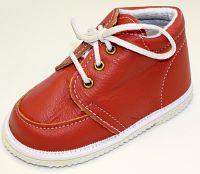 První krůčky Detské kožené topánočky - tehlové, EUR 22