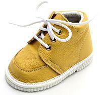 První krůčky Detské kožené topánočky - žlté, EUR 18