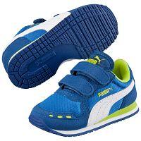 Puma Chlapčenské tenisky Cabana Racer Mesh - modro-biele, EUR 20