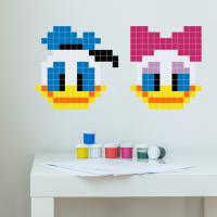 Puzzlove Dekoratívne samolepiace puzzle Donald a Daisy
