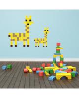 Puzzlove Dekoratívne samolepiace puzzle žirafa, 36x48 cm