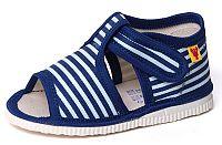 RAK Chlapčenské pruhované papučky - modré, EUR 18,5