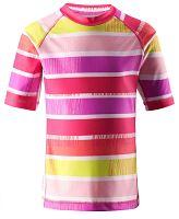 Reima Dievčenské plavecké tričko Fiji s UV 50+ - ružové, 128 cm