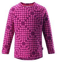 Reima Dievčenské vzorované funkčné tričko Tiptoe - ružové, 116 cm