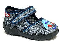 Ren But Chlapčenské džínsové papučky s autom - modré, EUR 23