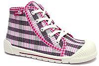 Ren But Dievčenské vzorované členkové tenisky - ružovo-šedé, EUR 27