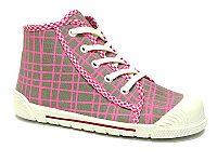 Ren But Dievčenské vzorované členkové tenisky - šedo-ružové, EUR 28