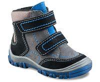 Richter Chlapčenské zimné členkové topánky - šedo-čierne, EUR 20