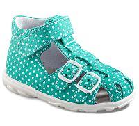 Richter Dievčenské bodkované sandále - tyrkysové, EUR 29