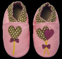 Rose et Chocolate Dievčenské topánočky s lízankami Classicz, ružové, EUR 24/25