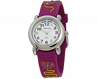 Secco Dievčenské hodinky s motýlikmi - fialové