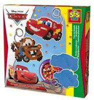 SES Zažehľovacie korálky Disney Cars, prívesky na kľúče