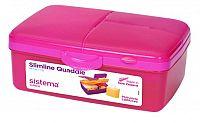 Sistema Box na obed s fľaštičkou, 1,5 l - ružový
