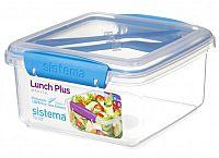 Sistema Box na obed s príborom, 1,2 l - modrý
