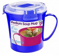 Sistema Hrnček na polievku, 656 ml - modrý