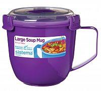 Sistema Hrnček na polievku, 900 ml - fialový