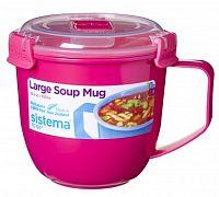 Sistema Hrnček na polievku, 900 ml - ružový