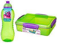 Sistema Obedová súprava - fľaša + box - zelená
