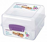 Sistema Veľký box na obed, 1,4 l - fialový