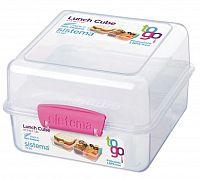 Sistema Veľký box na obed, 1,4 l - ružový