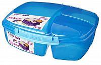 Sistema Veľký box na obed s téglikom, 2 l - modrý