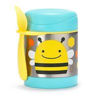 SKIP HOP Zoo Termoska na jedlo s vidličkou - Včielka