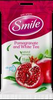 SMILE Vlhčené obrúsky Granátové jablko / biely čaj 2x15 ks