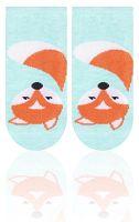 STEVEN Detské ponožky s líškou - zelené