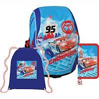 SunCe Anatomický školský batoh ABB SET - Disney Cars