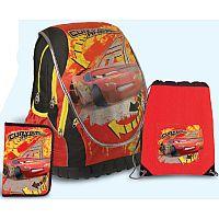 SunCe Anatomický školský batoh súprava - Disney Cars