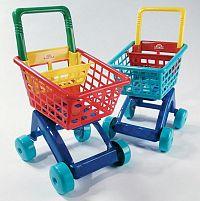 Teddies Nákupný vozík plastový - tyrkysový