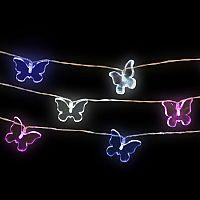 Think Gadgets Svetelná akrylová reťaz Motýliky