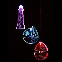 Think Gadgets Závesná svetelná dekorácia Lodičky