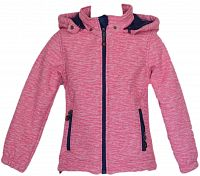 Topo Dievčenská bunda s kožušinkou - ružová, 98 cm