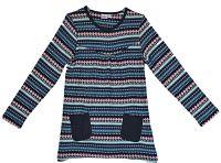 Topo Dievčenská vzorovaná tunika s vreckami - farebné, 128 cm