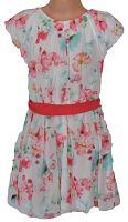 Topo Dievčenské kvetované šaty - bieloružové, 128 cm